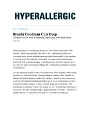 Brenda Goodman Cuts Deep