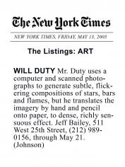 Will Duty: Drawings