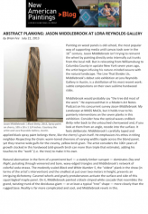 Abstract Planking: Jason Middlebrook At Lora Reynolds Gallery