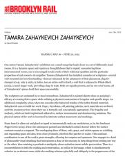 Tamara Zahaykevich: ZAHAYKEVICH