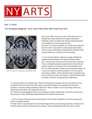 The Necessary Magician: Irena Jurek Talks Work With Artist Evie Falci