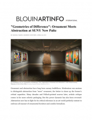 """""""Geometries of Difference"""": Ornament Meets Abstraction at SUNY New Paltz"""