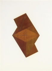 varnished folded paper on a white ground