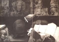 Anupam Sud   Trinity, 1976  Intaglio  19 x 25 in