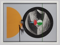 Aditya Pande HALF LIFE FORM IV 2012 Mixed media on archival paper 45 x 61 in.
