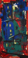 UNTITLED (RED AND BLUE VILLAGE)