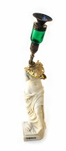 Affan Baghpati  A Long Embracing Dance Away, 2021  Assemblage, found objects, polymer resin, brass, glass, acrylic stone  14.5 x 2.5 x 2.7 in