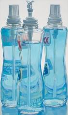 Windex Bottles, 1971-72. Oil on linen, 49 3/4 x 29 3/4 in.