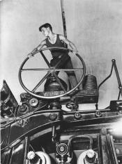 Arkady Shaikhet Komsomol Member at the Wheel, 1929