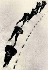 Speed Skaters,1955 14 3/4 x 10 1/2 inches