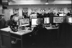 Newsroom, New York Daily News, Wall Street area, March 19, 2015, Gelatin silver print