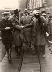 Maxim Gorky Touring Likhachev Plant, 1928