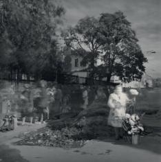Woman Selling Flowers,St. Petersburg, 1998, Toned gelatin silver print