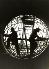 """Assembling the Globe at Moscow Telegraph Central Station,"" 1928"