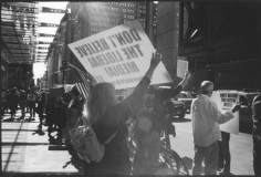 Media protest, Midtown, October 17, 2010, Gelatin silver print