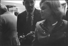 Reporter questioning Congressional Representative, Sutton Place, October 26, 2010, Gelatin silver print