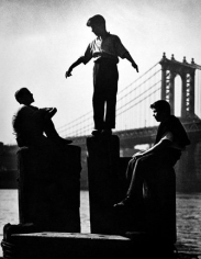Harold Roth Boys on East River Pier, 1947