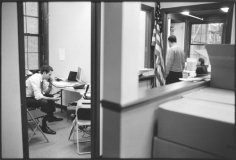 Candidate working the phone, Midtown, September 28, 2010, Gelatin silver print