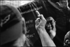Anti-Iran nuclear deal rally, Second Avenue at 48th Street, September 1, 2015, Gelatin silver print