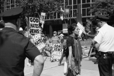 Westboro Baptist Church rally, Second Avenue at East 42nd Street, September 24, 2009, Gelatin silver print