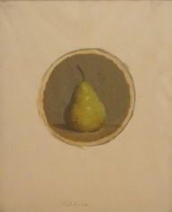 Pear 1968 oil and pencil on graph paper