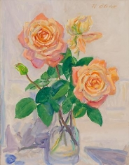 Blizzard-Roses 1991 oil on canvas