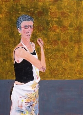 SPY-WTF 2006 egg tempera on wood