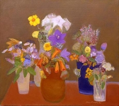Flowers on a Russet Table