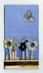 Untitled (Matchbook Flowers & Butterfly)