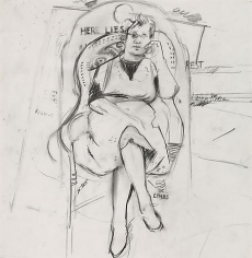 Berdie Seated Drawing