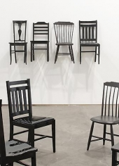 ROY McMAKIN Used/Use (4 black chairs two from Centralia and 2 I bought on Ebay)