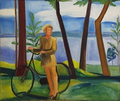 Maine, Girl with Bicycle