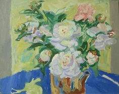 Peonies 1963 oil on canvas