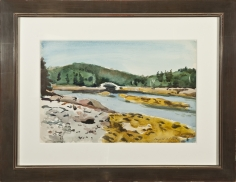 Fairfield Porter, Cove Bridge, c. 1965
