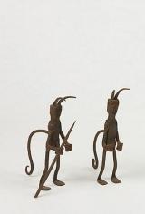 Two Brazilian iron sculptures