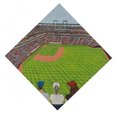 Baseball 2010 egg tempera on wood