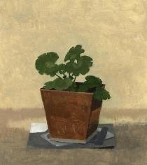 Geranium in a Copper Pot