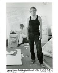 Allen Ginsberg Larry Rivers in his Studio
