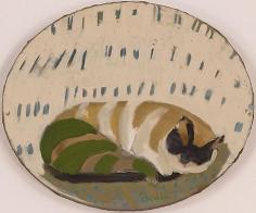 Biala Chat Couché