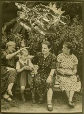 "Jess (Collins) Untitled (Four Women on Park Bench), Caesar's Gate ""Rumors"", 1955"