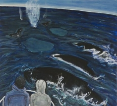 Humpbacks 2010 egg tempera on wood
