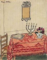 Elizabeth Bishop Table with Candelabra
