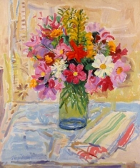 NELL BLAINE Bouquet with Dish Towel