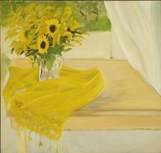 JANE FREILICHER Still Life with Yellow Flowers