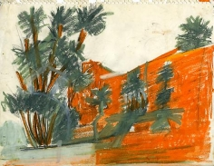 "Study for ""Paysage Marocain Sable Orange"""