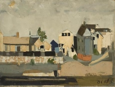 Provincetown 1957 mixed media collage on canvas