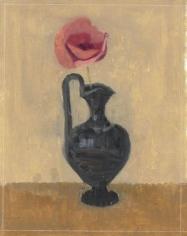 Poppy in Black Etruscan Vase