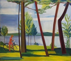 Maine, Girl with Bicycle II