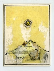 Untitled (Yellow Sun and Mountain)