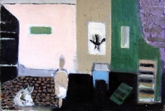 Untitled (Interior with Cat)